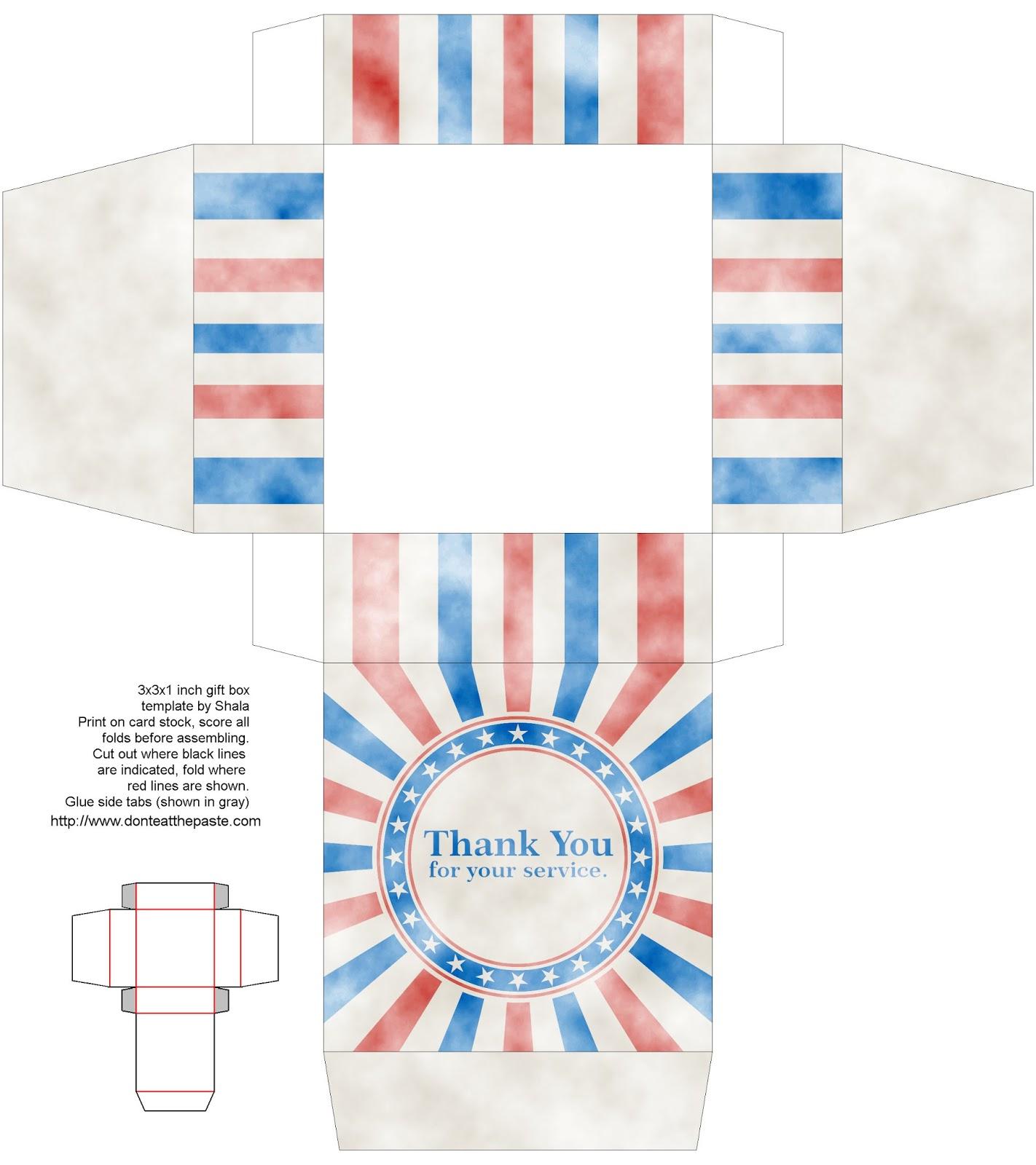 Don T Eat The Paste Printable Veteran S Day T Box