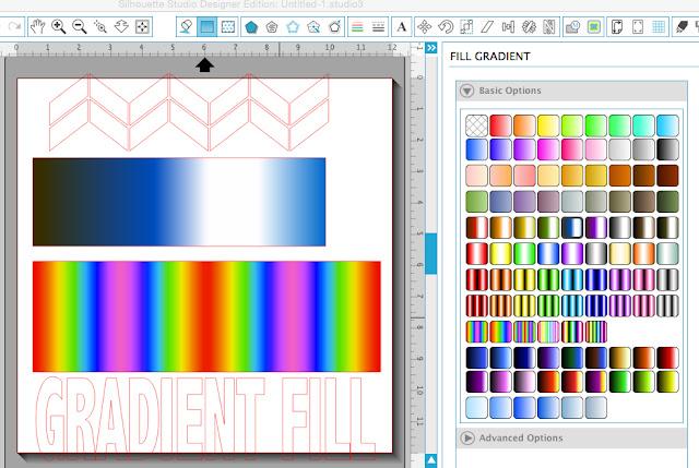 Silhouette Studio, Silhouette Cameo, gradient fill, multi piece design