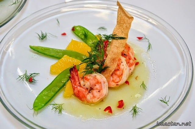 Summertime Prawn and Orange Appetizer