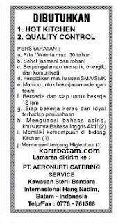 Lowongan Kerja PT. Aeronurti Catering Service