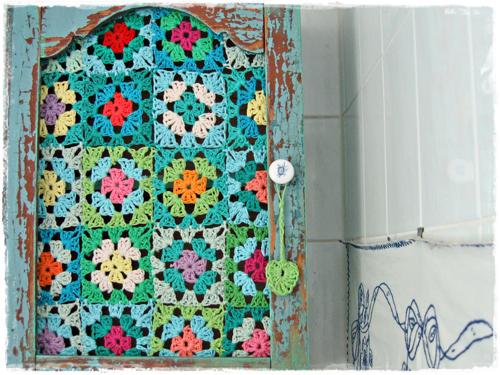 Crochet Kitchen Cabinet Door
