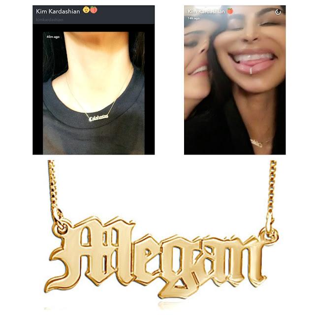 Kim kardashian Snapchat Calabasas Necklace