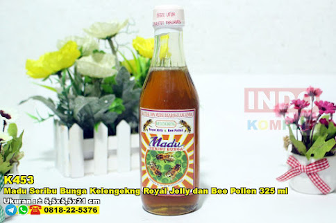 Madu Seribu Bunga Kelengekng Royal Jelly Dan Bee Pollen 325 Ml