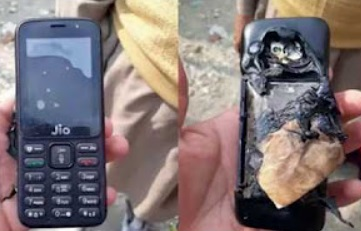 Reliance Jio Phone Exploded In Kashmir While Charging