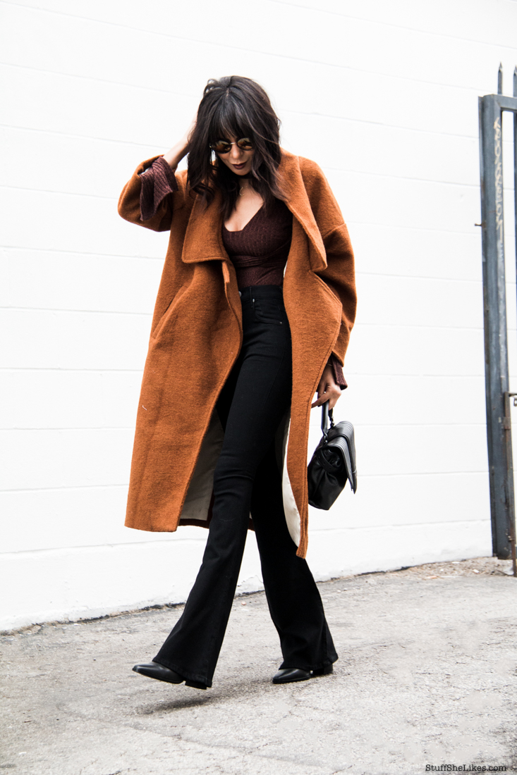 fashion blogger, fashioin blog, oversized coat, coat, flared jeans, citizens of humanity