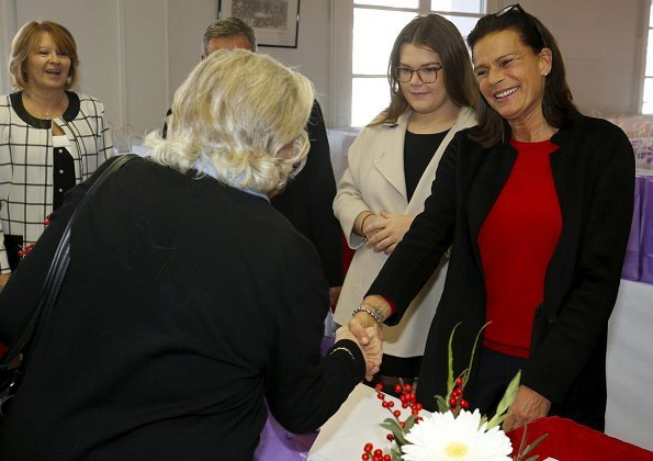 Princess Stéphanie of Monaco and Camille Gottlieb presented gifts to elderly before Monaco National Day