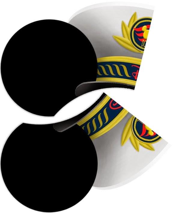 Mickey Mouse Capitán de Crucero: Sombreros con Orejas para Imprimir Gratis.