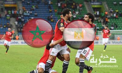 """الان .. نتيجة ماتش مصر والمغرب فى ربع نهائى امم افريقيا 2017 """"1-0"""" لمصر"""