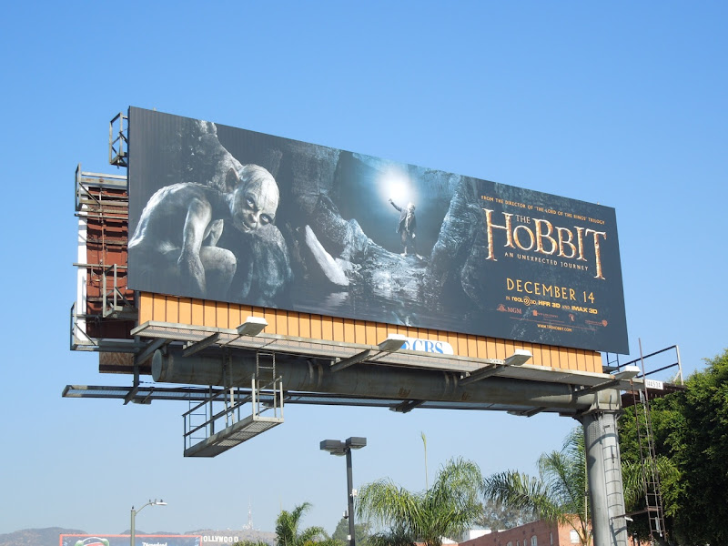 Hobbit Gollum billboard