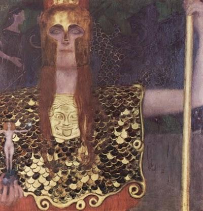 Pallas Athena - Gustav Klimt e suas pinturas ~ Pintor simbolista austríaco