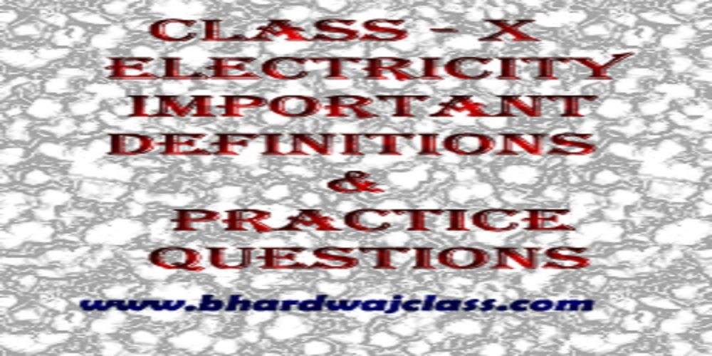 Class 10 science Electricity Important Questions