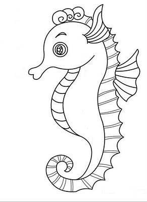 La Chachipedia Caballitos De Mar Para Colorear Dibujos De