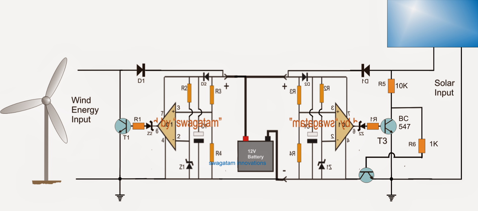 input hybrid battery charger circuit electronic circuit projects [ 1600 x 708 Pixel ]