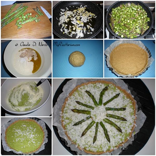 Torta rustica con crema di asparagi