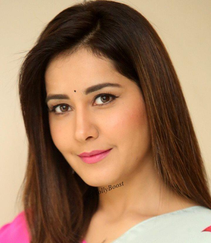 Beautiful Indian Girl Rashi Khanna Hair Face Closeup