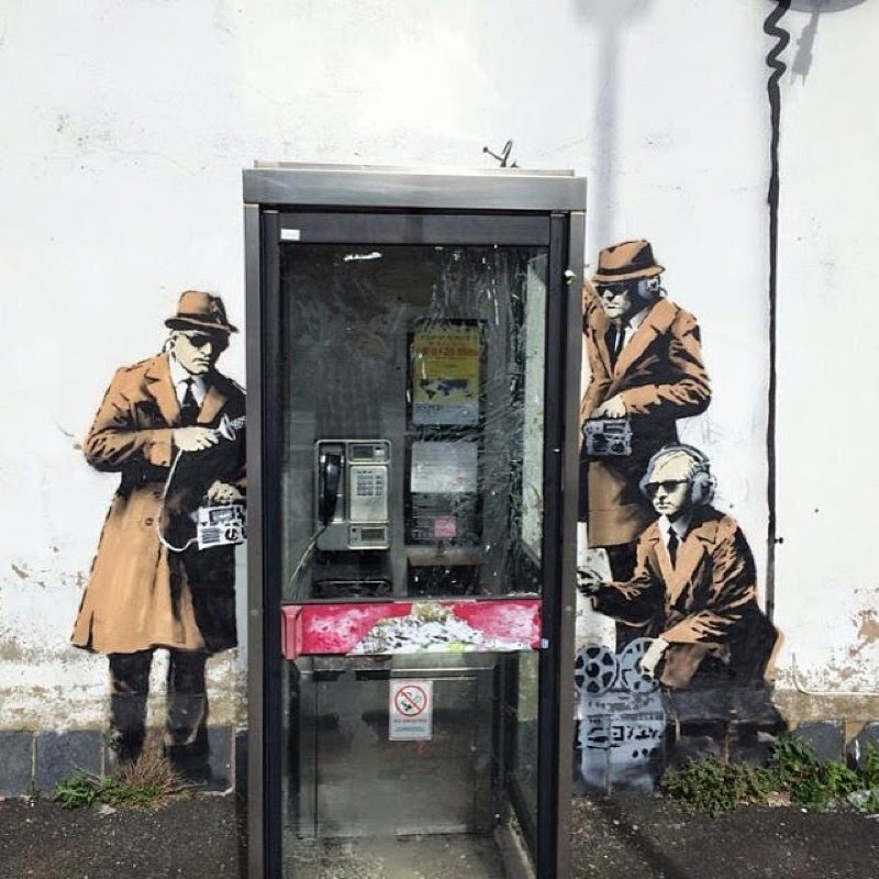 Guess who is back? Earlier this morning, Banksy was in Cheltenham, a large spa town and borough in Gloucestershire, England where he dropped this brand new street art piece.