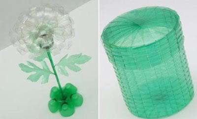 Reciclando garrafas pet: flor e pote