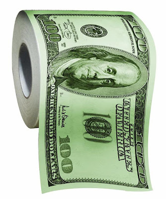 100 Dollar Bills Toilet Paper