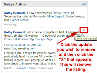 delete LinkedIn activity updates, LinkedIn activity updates,