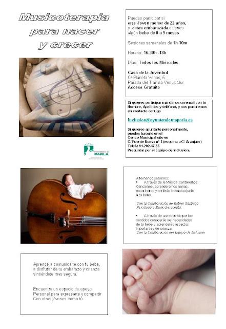 Musicoterapia para Nacer y Crecer, proyecto de apoyo a jóvenes embarazadas