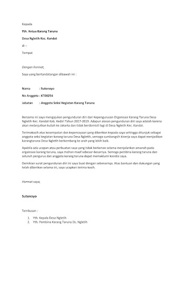 Surat Resign Pdf