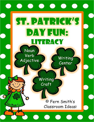 Fern Smith's Classroom Ideas St. Patrick's Day Literacy Centers and Literacy Lessons
