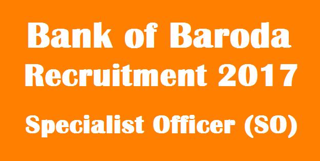 latest jobs, Bank jobs, Bank of Baroda, BOB Recruitment, Specialist Officer, Notiofication, Recruitment