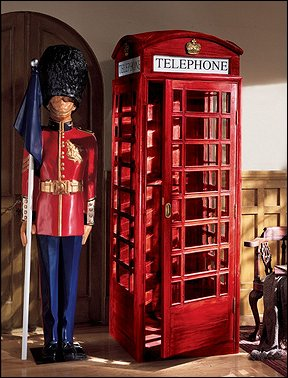 Travel Theme Decorating Ideas   Global Decor   World Travel Decorating    Around The World Theme · Red Phone Booth Media Cabinets   Variety