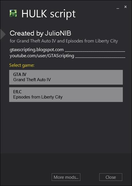GTA X Scripting: HULK script - GTA iV - Release post and