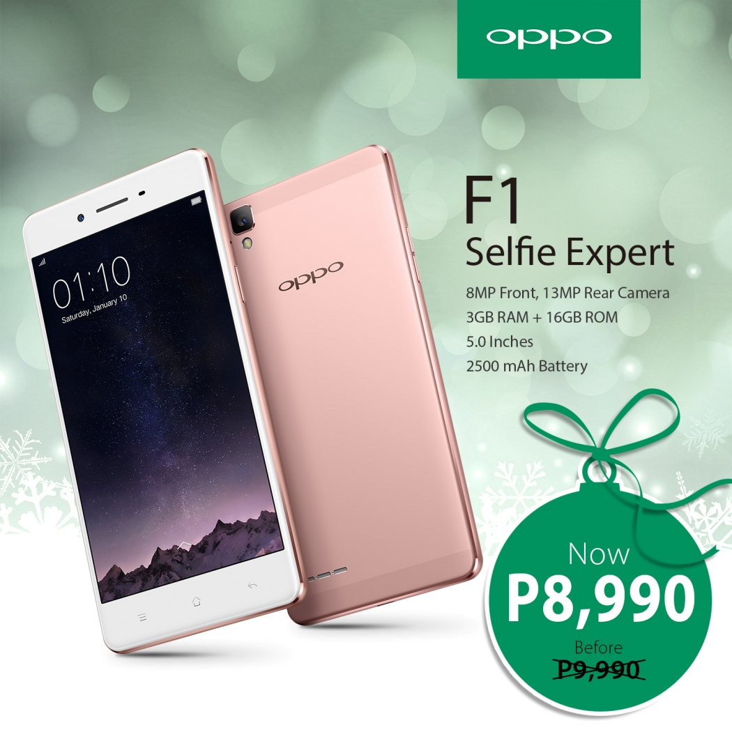 OPPO F1 Price Drop, now available at 8,990 - Gizmo Manila