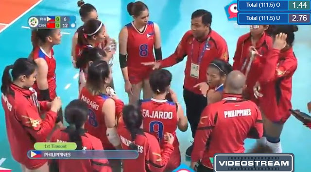 Live Streaming List: Philippines vs China ASIAD 2018 Volleyball (Women) Match