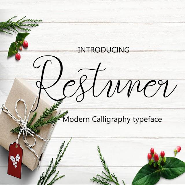 خطوط إنجليزية التصاميم  font Restuner