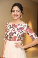 Ritu Varma smiling face Cream Anarkali dress at launch of OPPO New Selfie Camera F3 ~  Exclusive 105.JPG