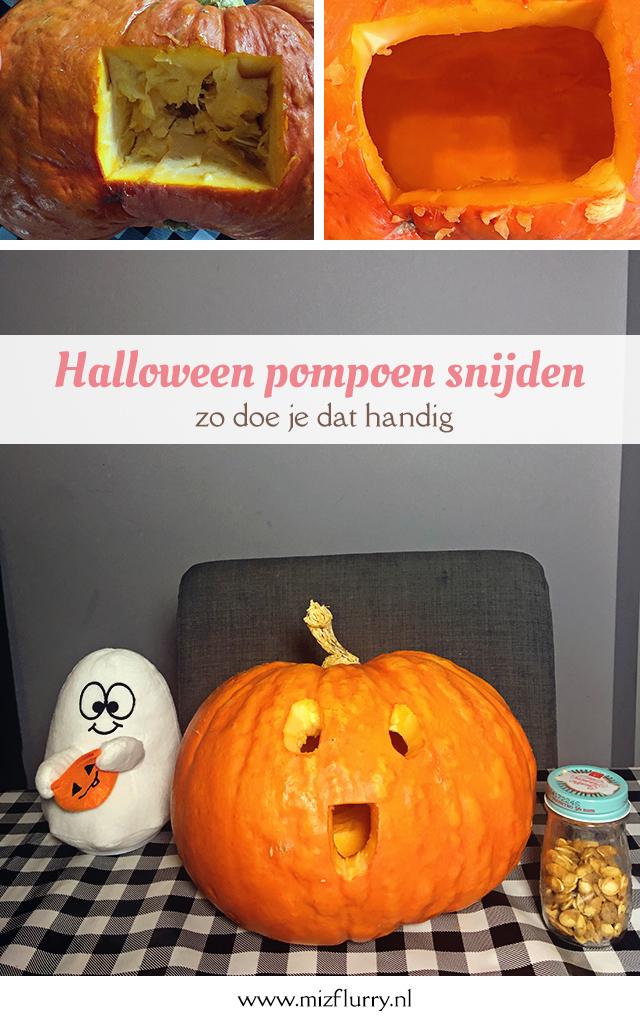 Halloween pompoen snijden - zo doe je dat handig Pinterest afbeelding