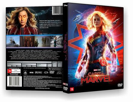 CAPA DVD – Capitã Marvel – TS CINEMA – ISO