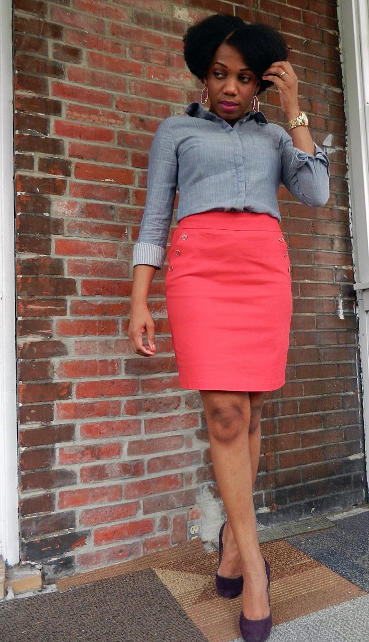 e536282b36c18 Skirt—Sandro via Marshalls (similar) Shoes—MICHAEL Michael Kors via Macy s  (similar) Bag—MICHAEL Michael Kors Hamilton tote via Macy s