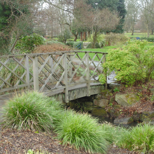 Lister park, Bradford,  botanical gardens bridge