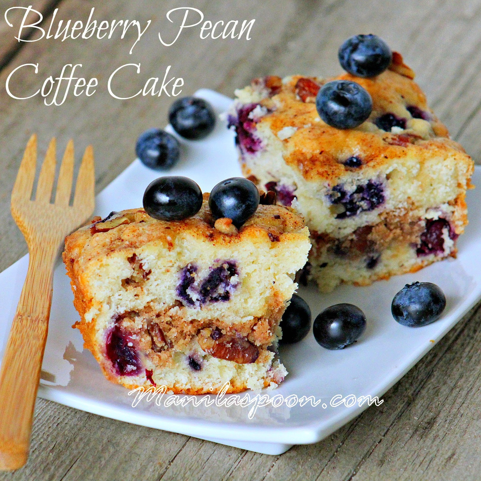 With juicy blueberries for extra sweetness and pecans for added crunch and flavor this is our ultimate breakfast and coffee cake. | manilaspoon.com