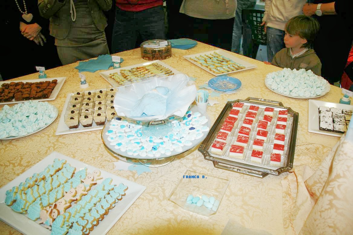 Preferenza biscotti,confetti edi Franca: BUFFET DOLCE PER IL BATTESIMO DI  QL09