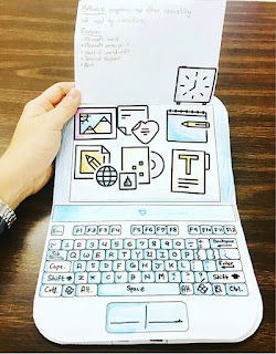 Your students are going to love learning about the parts of a computer while building their own on paper! These little laptops turn out so adorable you can't resist smiling when you see the finished products.