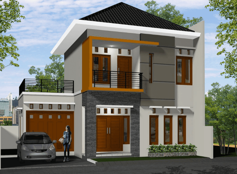 Permalink to Inspirasi rumah idaman minimalis 2 lantai terbaik