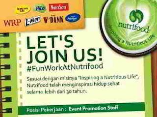 Lowongan Kerja di PT Nutrifood Indonesia
