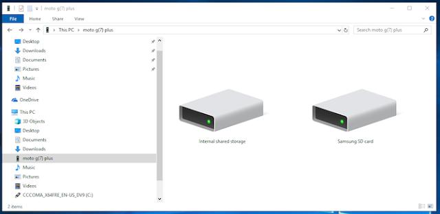 صورة لمتصفح ويندوز يوضح احدي طرق لنقل البيانات من جهاز الكمبيوتر أو الاب توب إلى هاتف أندرويد
