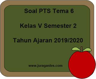 Contoh Soal PTS / UTS Tema 6 Kelas 5 Semester 2 K13 T.A 2019/2020