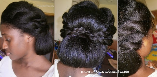 Twisted Back Updo | Tutorial | A Desired Beauty