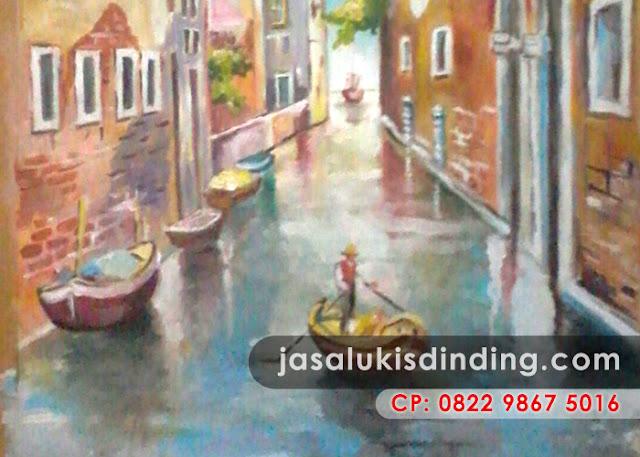 Lukisan pemandangan sungai