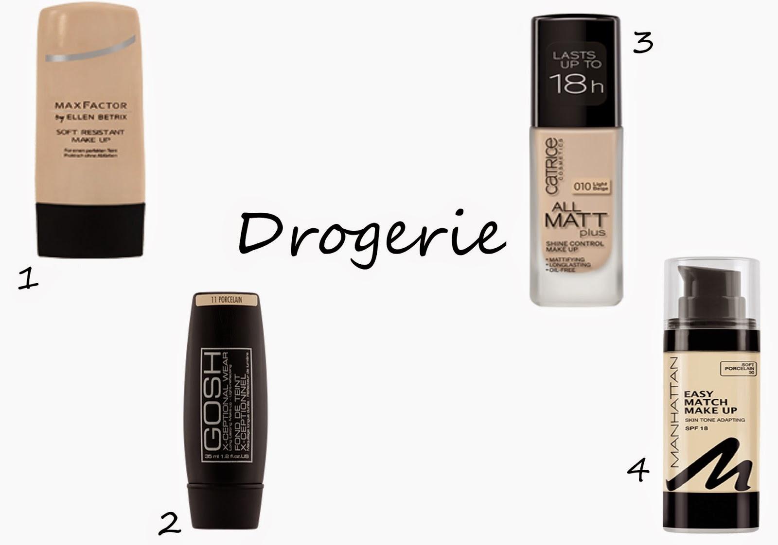Foundations für blasse Haut aus der Drogerie
