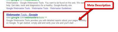 Meta Description SERP Example