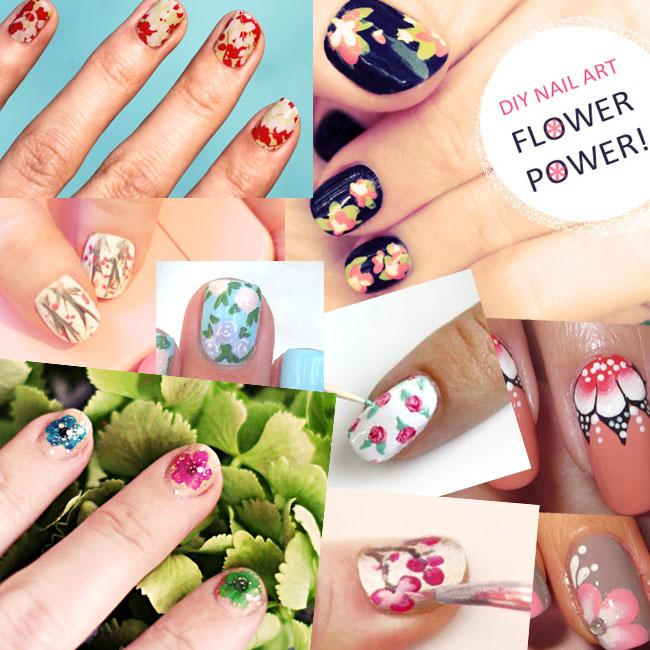 10 Pretty Floral Nails DIY Tutorials & Inspiration