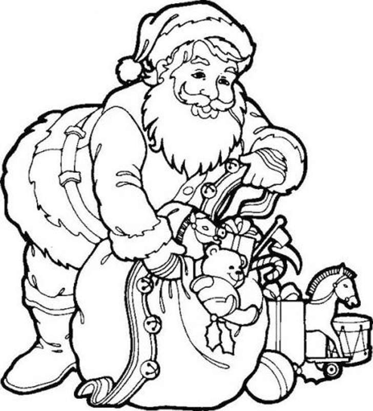 Christmas coloring pages for kids for Kids holiday coloring pages